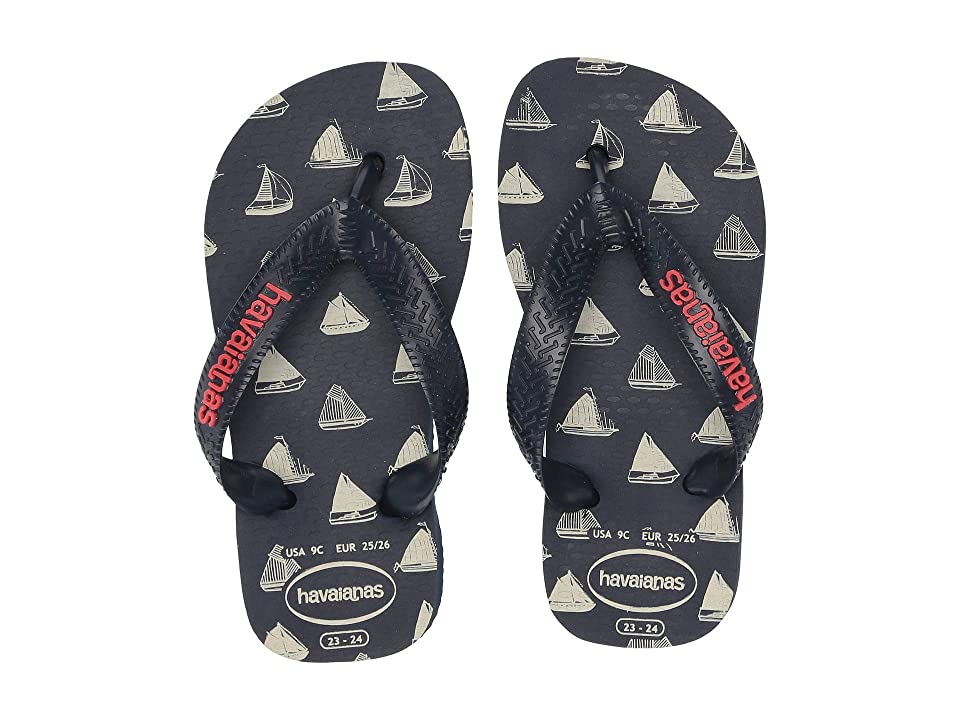 0b0929690b02 Havaianas Kids Top Nautical Flip-Flop (Toddler Little Kid Big Kid)