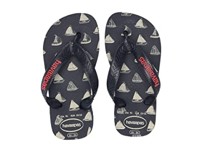 Havaianas Kids Top Nautical Flip-Flop (Toddler/Little Kid/Big Kid) (Navy Blue/Navy Blue) Boys Shoes