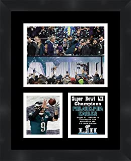 Nick Foles Philadelphia Eagles 2018 Super Bowl LII (52) Champions Framed 11 x 14 Matted Collage Framed Photos Ready to Hang