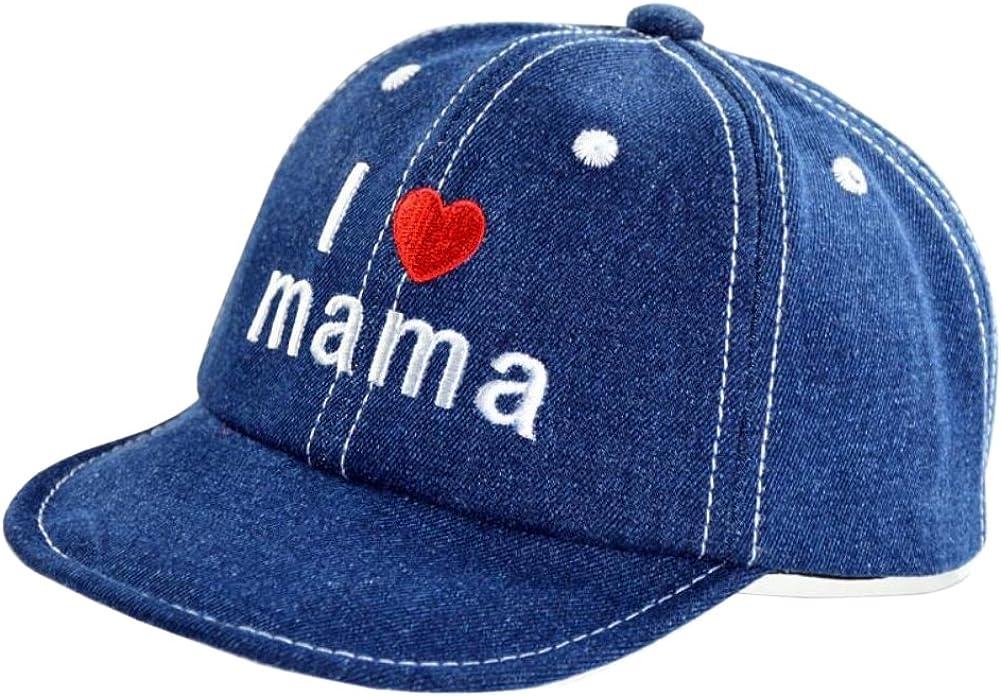 Sajfirlug Pitbull Mama Fashion Adjustable Cowboy Cap Denim Hat for Women and Men