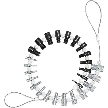 CKE Nut & Bolt Thread Checker (Inch & Metric) - 26 Male/Female Gauges - 14 Inch & 12 Metric