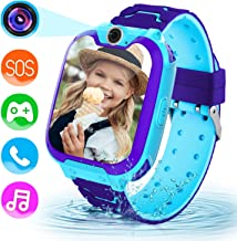 Lsflair Children Game Smart Watch Mobile Phone, Smart Watch with 1GB SD Card Game Time Music Player Camera Alarm Clock Calculator Watch 3-12y Girl Boy Child Birthday Educational Toy