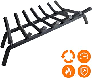"""Fireplace Log Grate 30 inch - 7 Bar Fire Grates - Heavy Duty 3/4"""" Wide Solid Steel - For Indoor Chimney Hearth Outdoor Fire Place Kindling Tool Pit Wrought Iron Wood Stove Firewood Burning Rack Holder"""