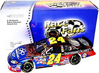 AUTOGRAPHED 2005 Jeff Gordon #24 DuPont Racing PERFORMANCE ALLIANCE (Race Fans Only Version) Rare Red Chrome Signed Action 1/24 NASCAR Diecast Car with COA (1 of only 3,504 produced!)