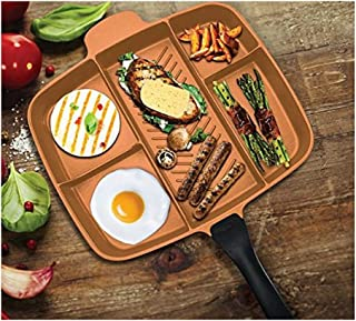 """Innovia Imports II-260 Divided Cookware Pan, 15"""", Copper"""