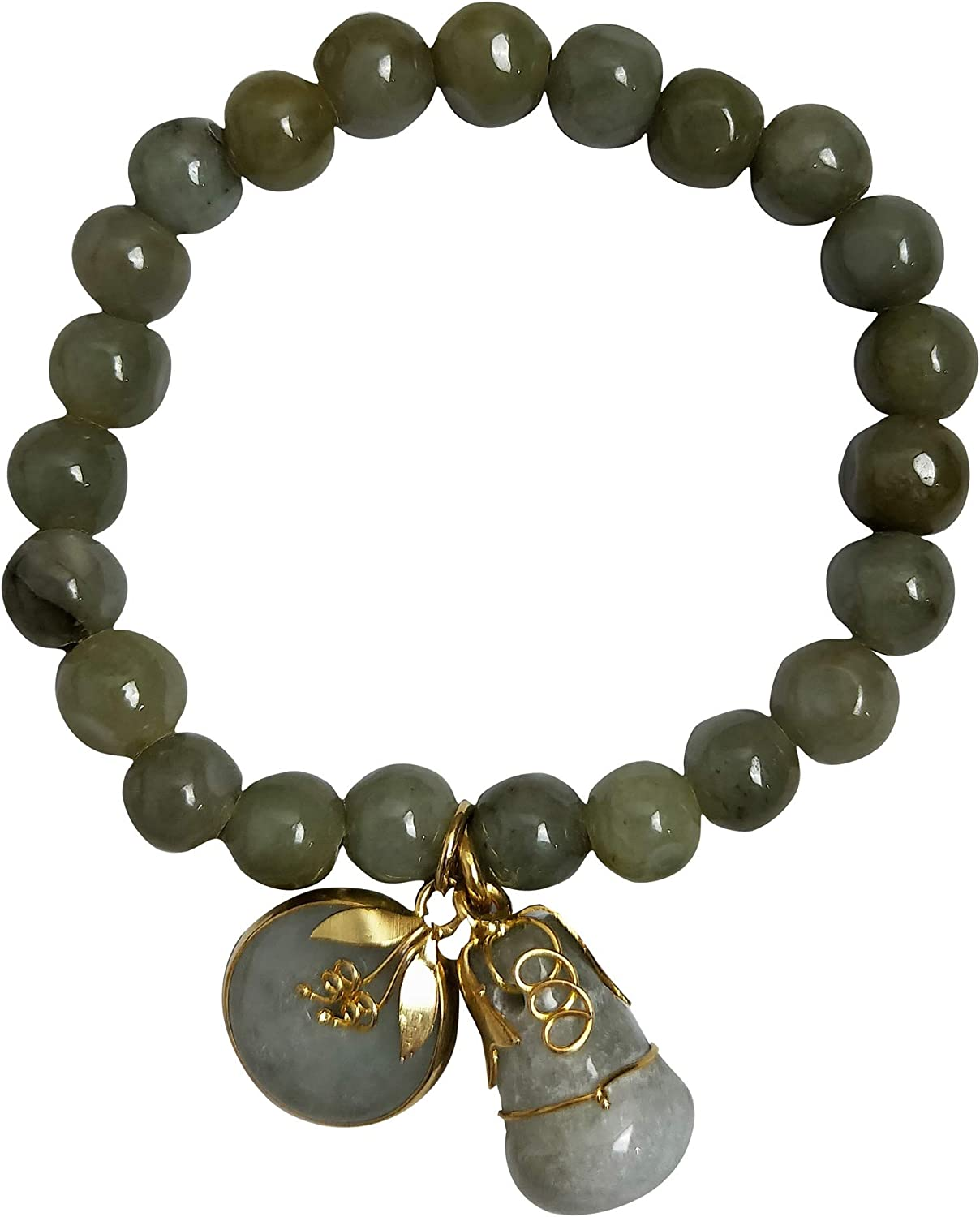 Sacramento Mall 8.00 mm Natural Green New Orleans Mall Stone Real Teens for Women with Bracelets