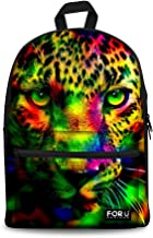 FOR U DESIGNS Camouflage Tiger Wolf Cat Cute Dog Printed School Backpacks Book Bag for Boys Girls