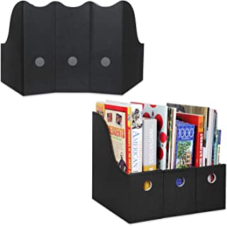 Magazine File Holder (Set of 24, Black), Sturdy Cardboard Magazine Holder, Folder Holder, Magazine Organizer, Folder Organizer, Magazine Box, File Storage, or Book Bins for Classroom Library Organizer