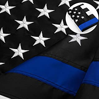 white black blue american flag