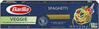 Barilla Veggie Pasta, Spaghetti Pasta, 12 Ounces (Pack of 20)