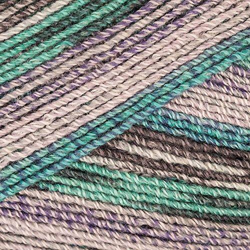 Lana Grossa Meilenweit Malibu Stretch Sockenwolle Wolle (6305 - Braun/ Bunt)