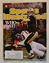 Drew Brees & Ray Edwards - The New Orleans Saints win the NFC Championship & head to Super Bowl XXIV - Sports Illustrated - February 1, 2010 - The Power of Peyton Manning - SI