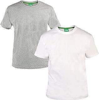 Duke Mens King Size 2 Pack Cotton Crewneck T-Shirt