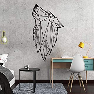 Nordic Style Art Geometric Wolf Vinyl Wall Sticker for Living Room Decoration Decals Bedroom Decor Wall Decal Mural Wallpaper l1 17x28cm