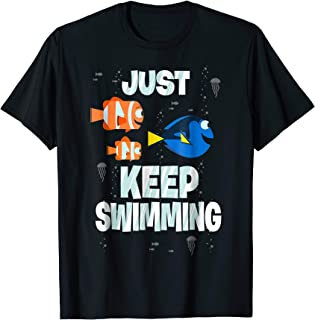 Disney Finding Dory Just Keep Swimming Graphic T-Shirt