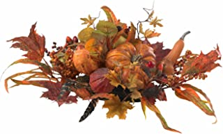 Nearly Natural 4910 Harvest Centerpiece, Orange