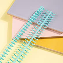 Btuty 10 pcs Plástico 30 Folhas de Folhas Soltas Fichários de Encadernação Espinhos Pentes 85 Folhas Capacidade para DIY P...