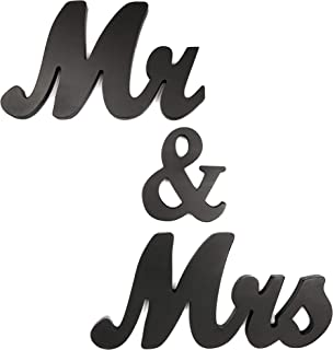 Bright Creations Mr and Mrs Sign for Wedding Table, Black