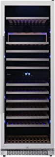 Avallon AWC242TDZRH 24 Inch Wide 141 Bottle Capacity Free Standing Dual Zone Wine Cooler with Interior Lighting