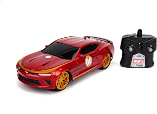 Jada Toys Marvel Avengers Iron Man 2016 Chevy Camaro R/C, 1: 16 Scale with USB Charging, 2.4Ghz & Turbo Boost