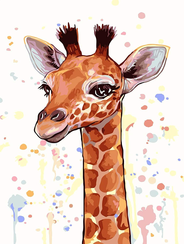 Agolong Cartoon Cartoon Cartoon Giraffe Diy Malen Nach Zahlen Kits