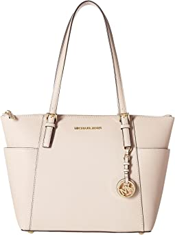 Jet Set Saffiano Top-Zip Tote