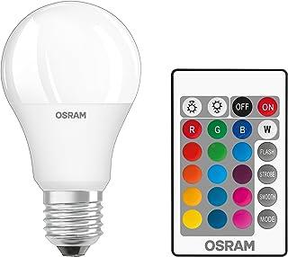 Osram LED Star+ Classic A RGBW lampa, i kolvform med E27-sockel, dimbarhet och färgkontroll med fjärrkontroll, ersätter 60...