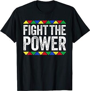Fight The Power T-Shirt Black Pride Gift T-Shirt