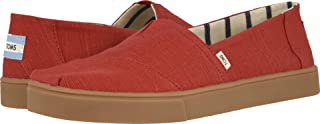TOMS Men's Alpargata Espadrille, Size: 10.5 D(M) US, Color: Brick Red Heritage Canvas