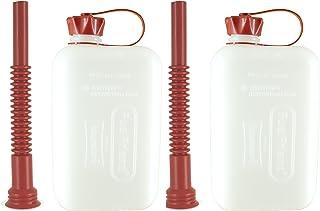 FuelFriend®-Big Clear MAX. 2.0 litros + caño Flexible - Bidón con aprobación de la Onu - 2 Piezas por un Precio Especial