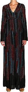 Missoni - Vestido largo para mujer, color negro, fantasía en Maglina Lurex
