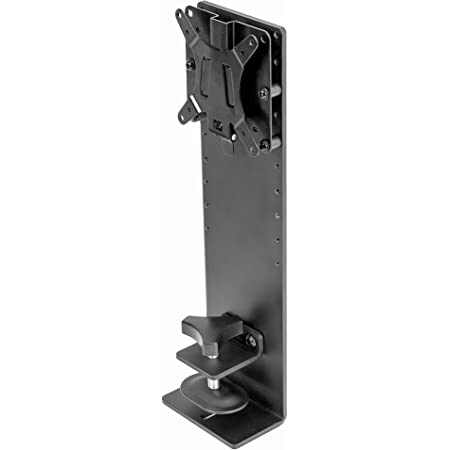 Vivo Black Single Monitor Cubicle Mount Hanger Attachment Height Adjustable Vesa Bracket Desk Clamp For 17 To 32 Inch Screens Mount Cub2d Electronics