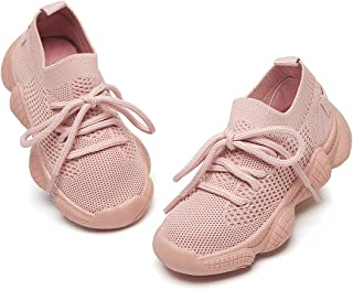 Aiminila Boys Girls Light Weight Breathable Hollow Out Mesh Sneakers Casual Outdoor Sport Walking Shoes