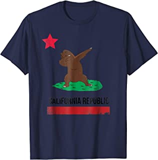 California Republic Dabbing Dab Bear Shirt Cali Flag Tee