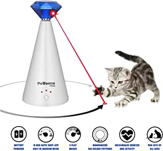Pawsome Pets Automatic Cat Laser Toy | Pet Laser Pointer for Cats | Interactive Cat Chase Toys | 3 Rotating Modes | Laser Cat Toy with Auto Shut Off, Includes Free Squeaky Cat Mouse Toy