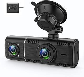 GreenGee ドライブレコーダー 前後カメラ 1080P GPS付き 32GBカード付属 Gセンサー 停車監視 車内カメラ 動態監視