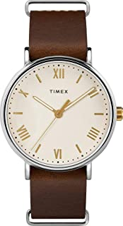 Timex Southview Cream Dial Leather Strap Men's Watch TW2R80400