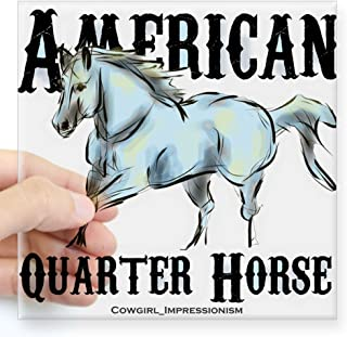 "CafePress American Quarter Horse Sticker Square Bumper Sticker Car Decal, 3""x3"" (Small) or 5""x5"" (Large)"