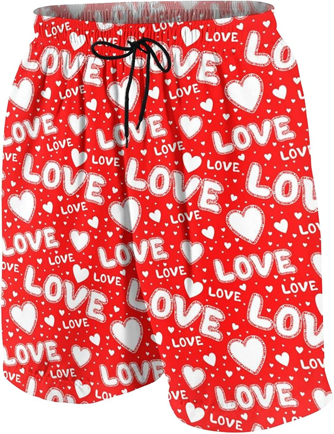 Red Seamless Summer Youth Beach Shorts Boys Board Shorts Swim Trunk Pants for Teens