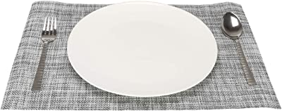 Tedemel-DFO-230-02-Grey-placemats for Dining Table Set of 6,Waterproof,Heat-Resistant Non-Slip Stain-Resistant Washable Place Mats Set of 6