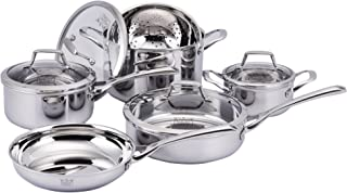 Kucht Culinary Professional 3-Ply Cookware Set, 10 Piece, Stainless Steel