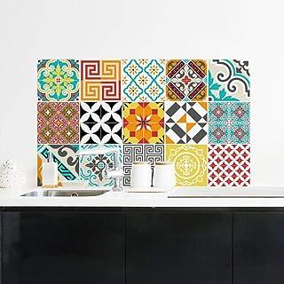 comprar comparacion Ambiance-Live 15Stickers Adhesivos carrelages | Adhesivo Adhesivo Azulejos–Mosaico Azulejos de Pared de baño y Cocina |...