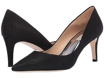 Badgley Mischka Lana (Black Indian Silk) High Heels