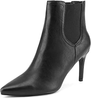 DREAM PAIRS Women's Pointed Toe Stiletto High Heel Ankle Booties