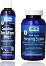 Trace Minerals Research - Concentrace Trace Mineral Drops, 8 fl oz Liquid & Research Performance Electrolyte Stamina, High...