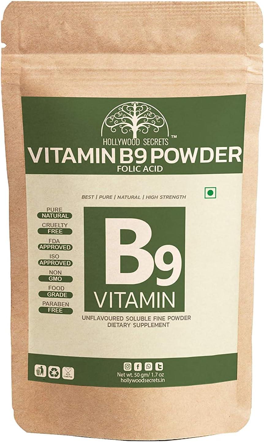 Sales Madow Vitamin B9 Courier shipping free Folic Acid 50gm Powder