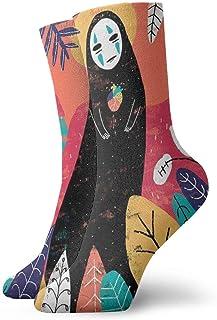 eneric, Dibujos animados animado lejos ninguna cara hombre calcetines tripulación divertido casual unisex adultos niños anime impresión tobillo niño acogedor acolchado calcetín fresco 90