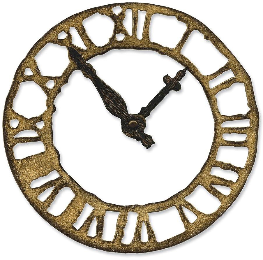 Sizzix 657190 Bigz Die Weathered Clock by Tim Holtz, Brown