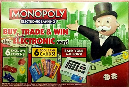 HS Enterprise Monopoly Ultimate Electronic Banking Edition Board Game Buy Trade and Win The Electronic Way Electronic Banking Unit Game for Families and Kids Ages 8 and Up Product Name