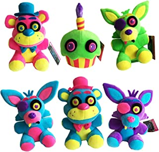FNAF Five Nights at Freddy's Plush Doll 6 Piece Set & Slap Bracelet